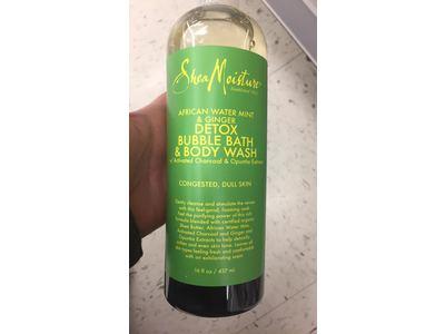 SheaMoisture African Water Mint & Ginger Detox Bubble Bath & Body Wash, 16 fl. oz. - Image 4