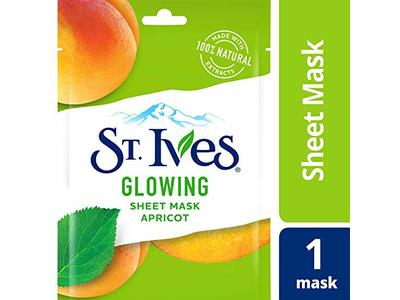 St. Ives Skin Care Sheet Mask, Glow Apricot, 6 Count