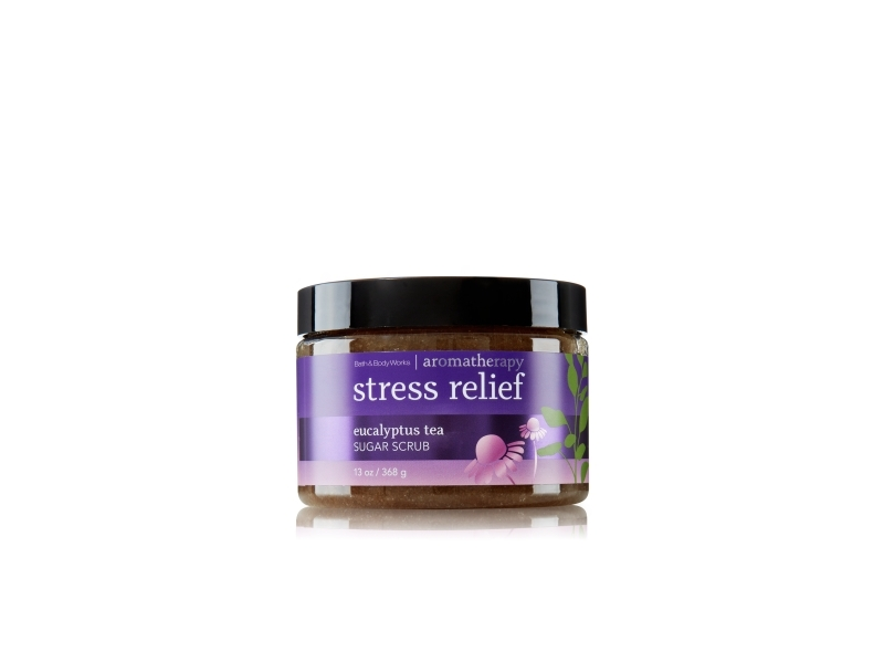 Bath & Body Works Aromatherapy Stress Relief Sugar Scrub, Eucalyptus Tea, 13 oz