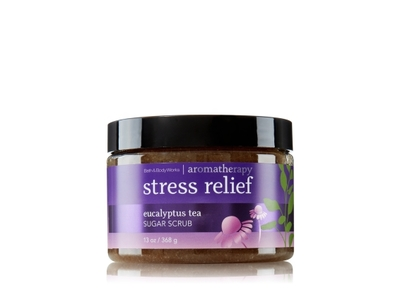 Bath & Body Works Aromatherapy Stress Relief Sugar Scrub, Eucalyptus Tea, 13 oz - Image 1