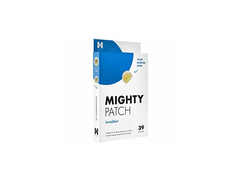 Mighty Patch Invisible Hydrocolloid Acne Pimple Patch, Invisible+, 39 count