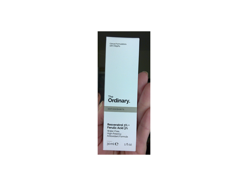 The Ordinary Resveratrol 3 Ferulic Acid 3 Antioxidant 1 Fl Oz 30ml Ingredients And Reviews