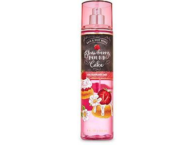 Bath & Body Works Body Care Fall 2020 Strawberry Pound Cake Fine Fragrance Mist, 8 fl oz