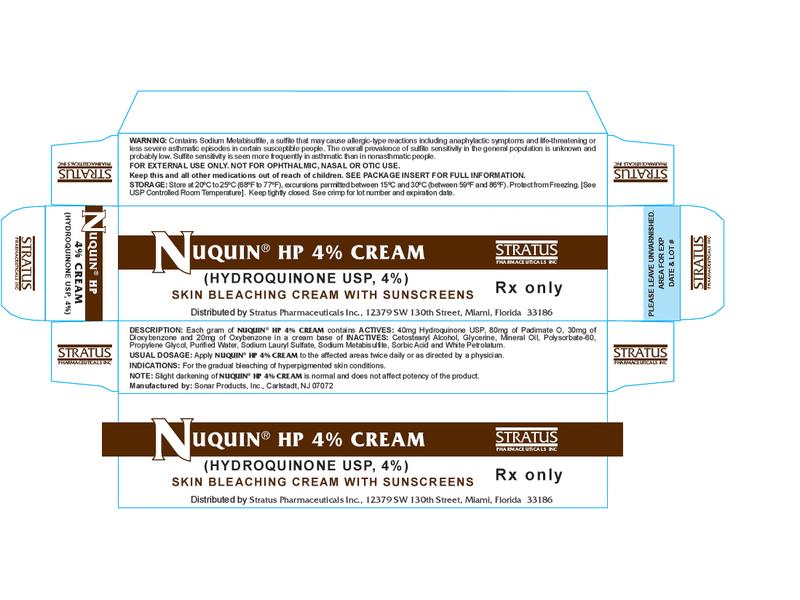 Nuquin HP 4% Cream (RX) 14.2 Grams, Stratus Pharmaceuticals, Inc.