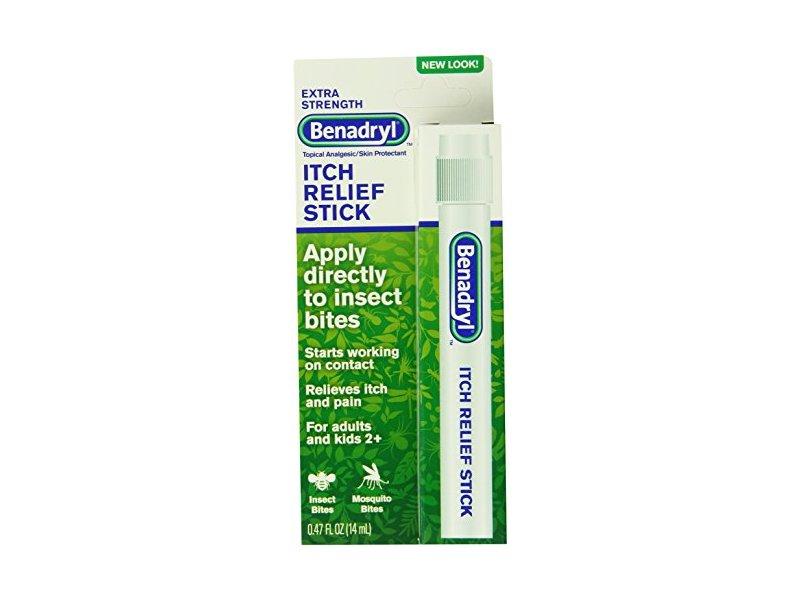 Benadryl Itch Relief Stick, Extra Strength, 0.47 oz (Pack of 3)