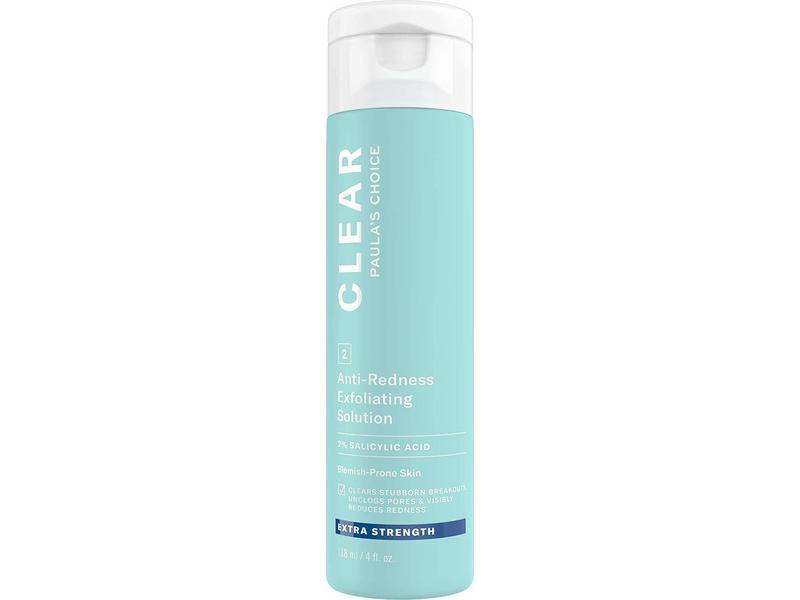 Paula's Choice Clear Extra Strength Anti-Redness Exfoliating Solution with 2% BHA Salicylic Acid, 4 fl oz (118 mL)