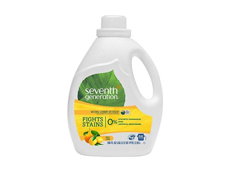 Seventh Generation Natural Liquid Laundry Detergent, Fresh Citrus, 100 fl oz