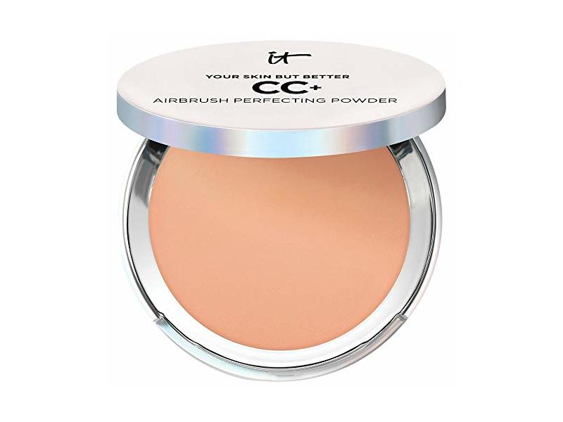 It Cosmetics Your Skin But Better CC+ Airbrush Perfecting Powder SPF 50+, Tan, .192 oz