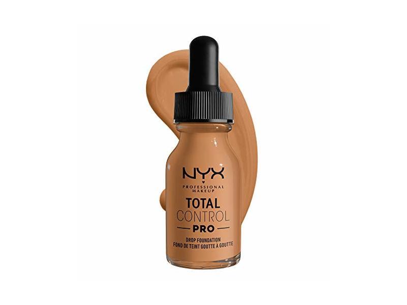 Nyx Professional Makeup Total Control Pro Drop Foundation, Camel, 0.43 fl oz/13 mL