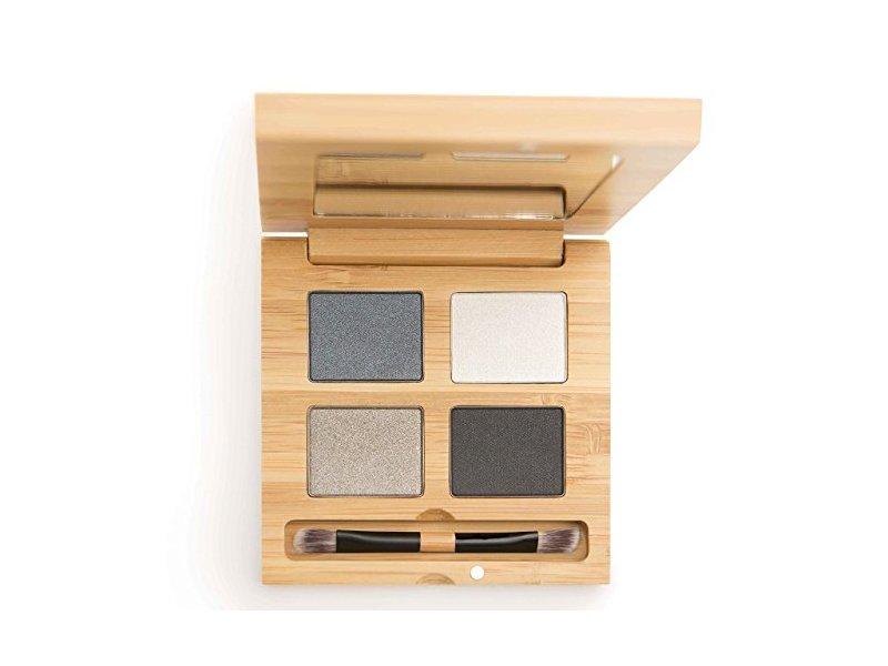 Antonym Cosmetics Ecocert Certified Organic Quattro Eyeshadow, To the Moon and Black, 0.21 oz