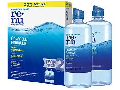 Bausch + Lomb ReNu Lens Solution, Advanced Triple Disinfect Formula, Multi-Purpose, 12 Ounce Bottle Twinpack
