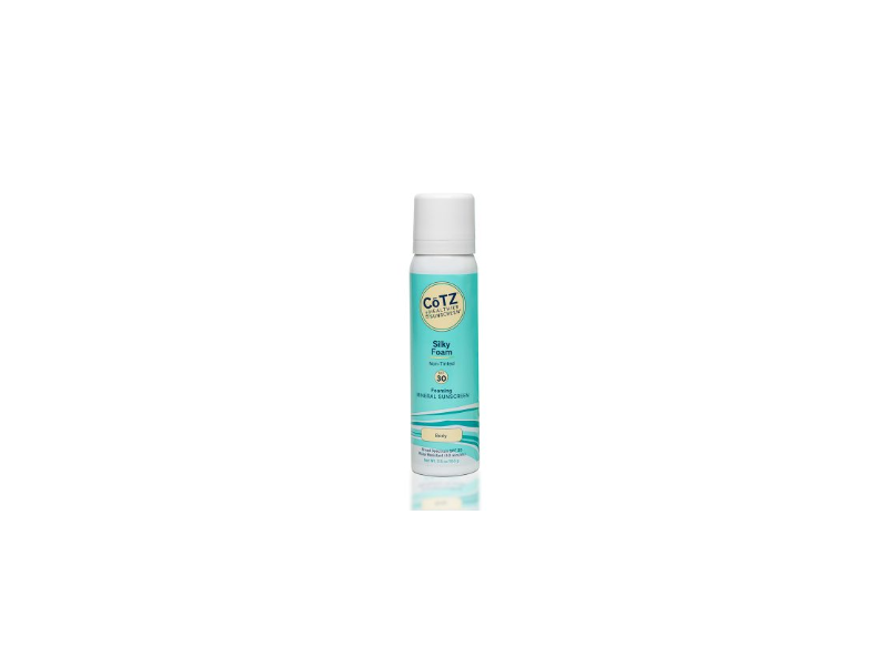 CoTZ Silky Foam SPF30 Mineral Sunscreen, Non-Tinted, 3.5 oz