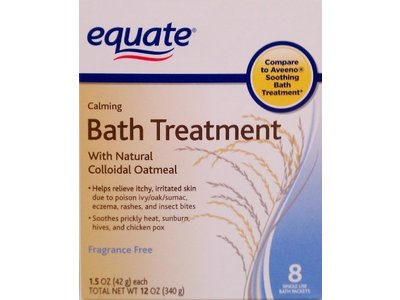 Equate Calming Bath Treatment, 8ct - Image 1