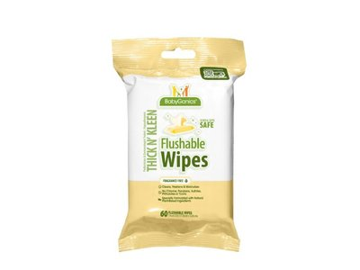 BabyGanics Flushable Wipes, Thick N Kleen, 60 Count - Image 8