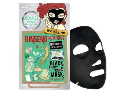 Dewytree Ginseng Nutritious Black Sheet Mask, 1 Sheet)