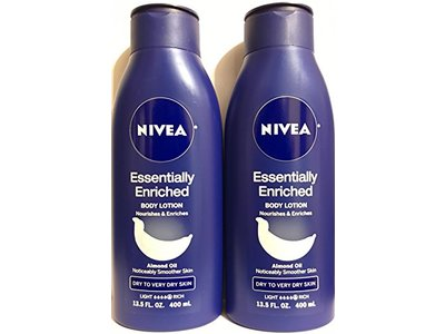 Nivea Essentially Enriched Body Lotion With Almond Oil - Net Wt. 13.5 FL OZ