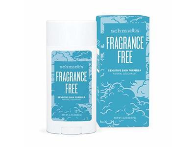Schmidt's Fragrance Free Natural Deodorant, 3.25 oz (92g)