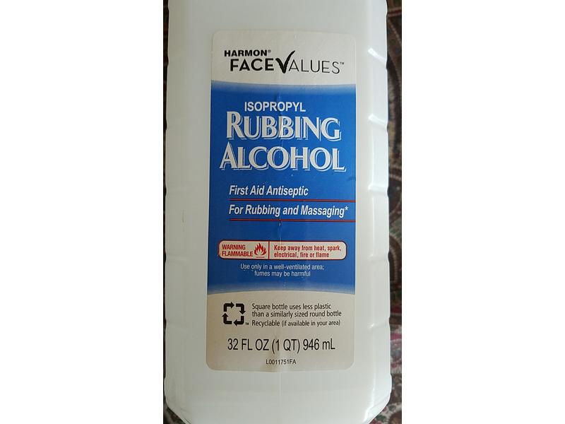 Harmon Face Values Isopropyl Rubbing Alcohol, 32 fl oz
