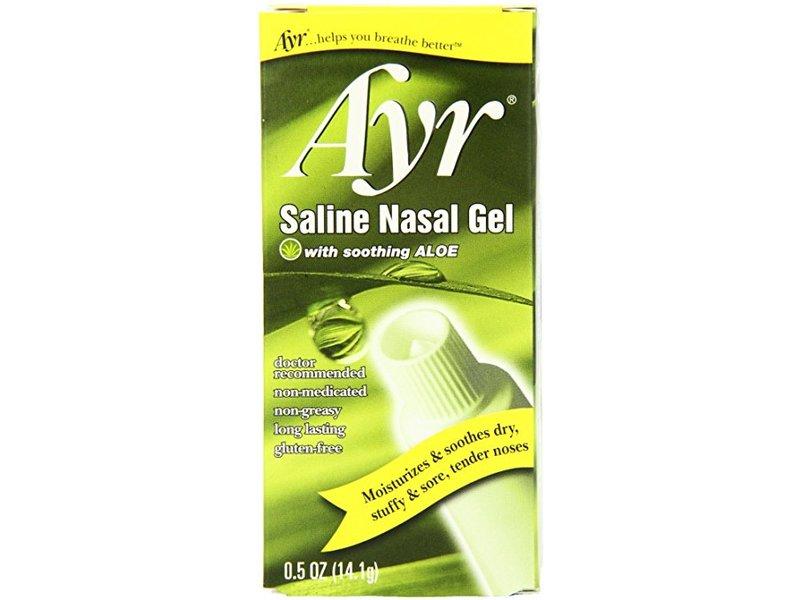 Ayr Saline Nasal Gel with Soothing Aloe, 4 ct