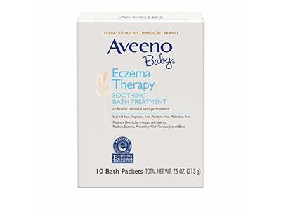 Aveeno Baby Eczema Therapy Soothing Bath Treatment, 10 Bath Packets