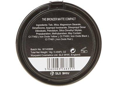 W7 The Bronzer Matte Compact Bronzing Powder, 14g - Image 3