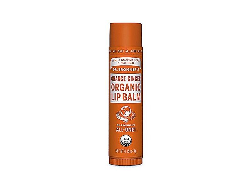 Dr Bronner's Organic Lip Balm, Ginger Orange, 0.15 oz/4 g