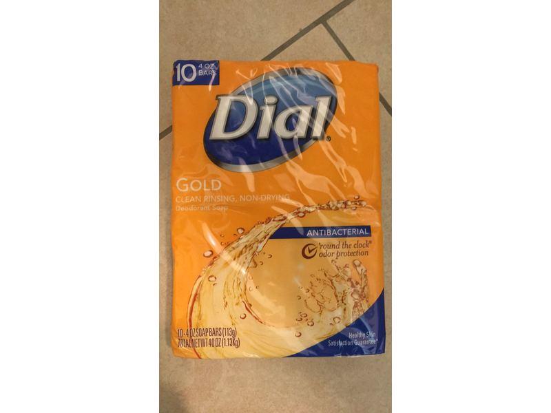 Dial Antibacterial Soap Bar, Gold