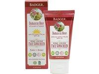 Badger Damascus Rose Face Sunscreen Lotion, SPF25, 1.6 oz - Image 2