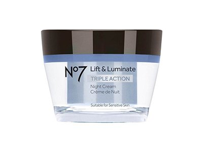 No7 Lift & Luminate Triple Action Night Cream, 1.69oz