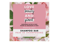 Love Beauty and Planet Muru Muru Butter & Rose Shampoo Bar, 4 oz - Image 2
