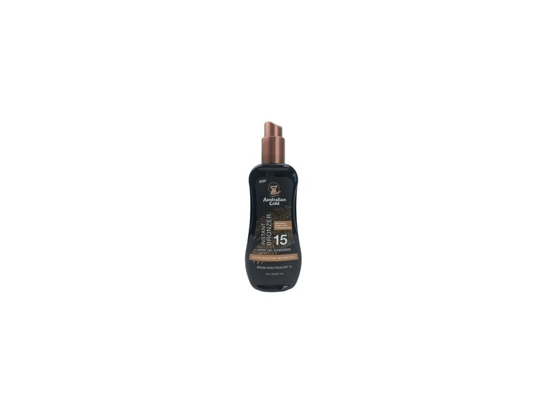 Australian Gold Spray Gel Sunscreen with Bronzer SPF 15
