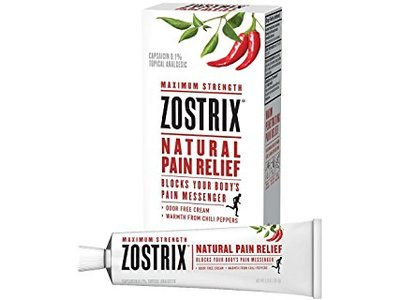 Zostrix Maximum Strength Natural Pain Relief Odor Free Cream, 2.0 oz