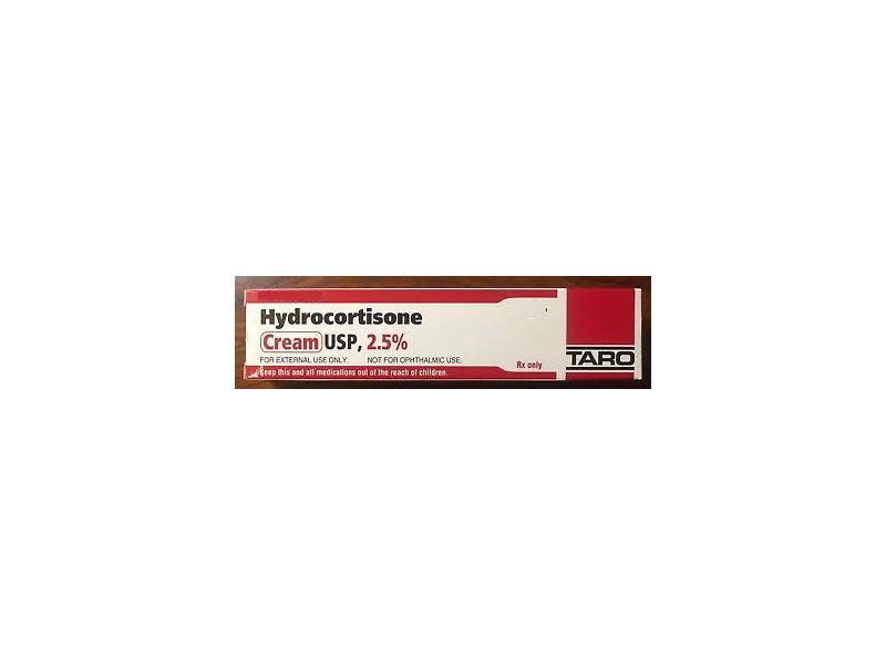 Hydrocortisone 2.5% Topical Cream (RX) 20 Grams, Taro Pharmaceuticals