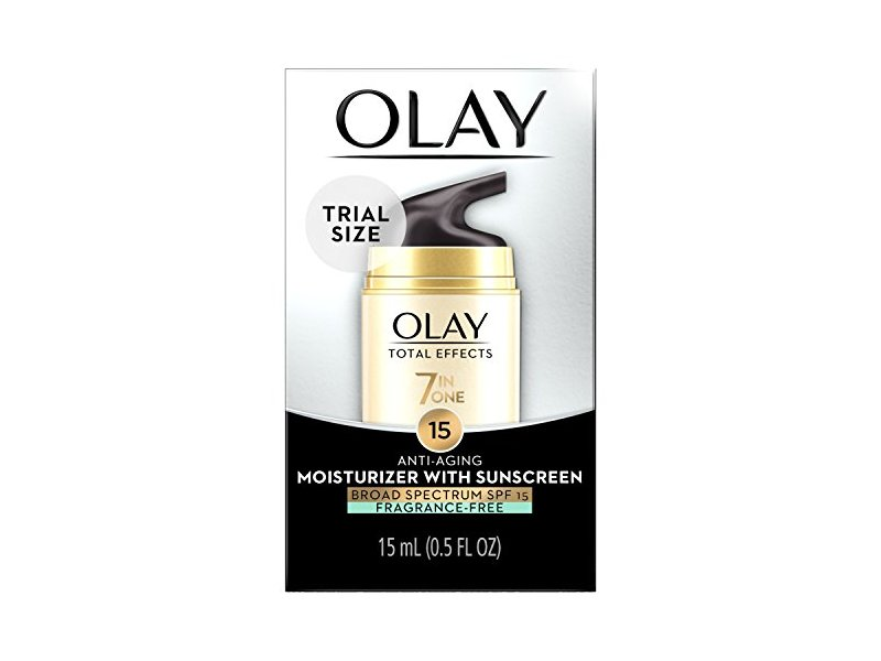 Olay Total Effects Anti-aging Face Moisturizer With Spf 15 Fragrance-free, Trial Size 0.5 Fluid Ounce