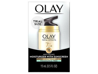 Olay Total Effects Anti-aging Face Moisturizer With Spf 15 Fragrance-free, Trial Size 0.5 Fluid Ounce - Image 1
