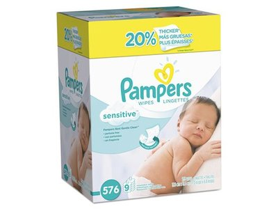 Pampers Baby Wipes, Sensitive, 576 ct