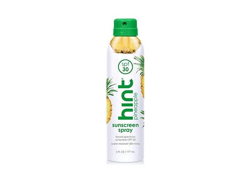 Hint Sunscreen Spray, SPF 30 Pineapple, 6 fl oz