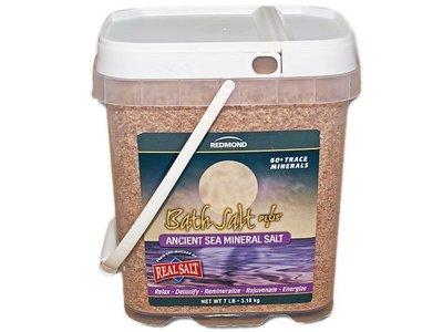 Redmond Bath Salt Plus Ancient Sea Mineral Salt, 7 lb