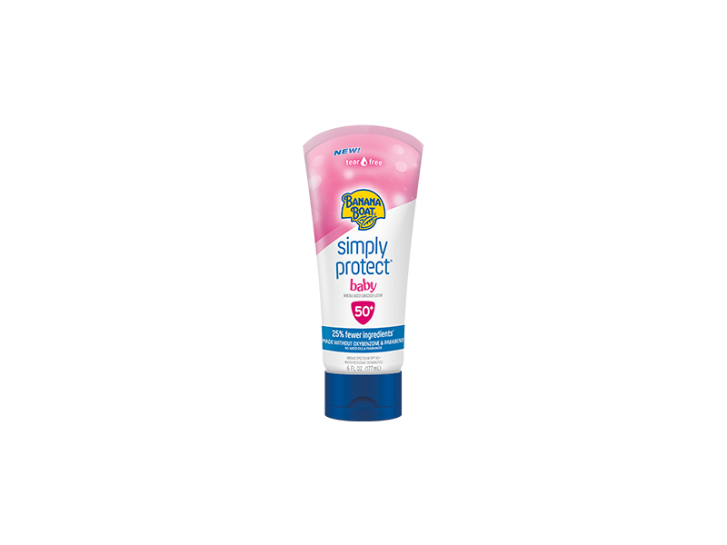Banana Boat Simply Protect Baby Sunscreen Lotion, SP50+,