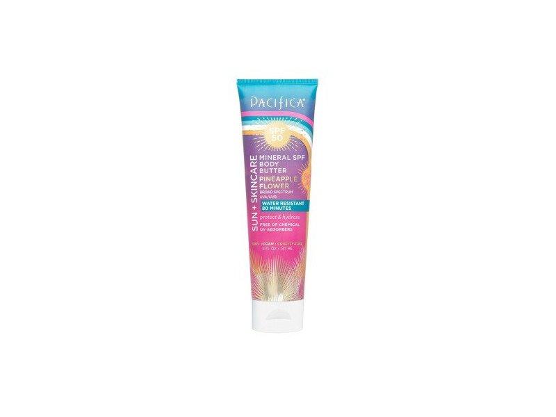Pacifica Sun + Skincare Mineral Body Butter, SPF 50, Pineapple Flower, 5 fl oz