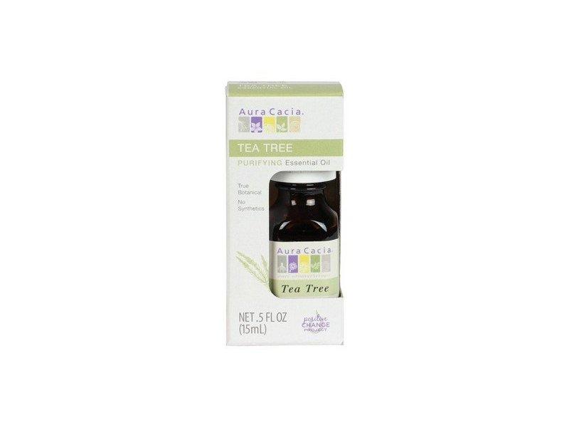 Aura Cacia Essential Tea Tree Boxed Oil, 0.5 oz