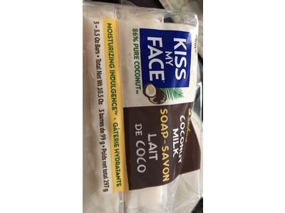 Kiss My Face Pure Coconut Milk Soap Bar with Coconut Oil, 3.5 Ounce, 3 Pack - Image 6