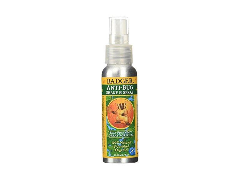 Badger Balm Anti Bug Shake & Spray, Travel 2.7 oz