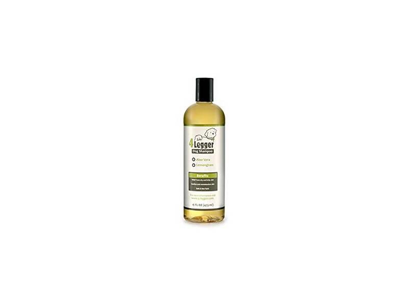 4 Legger Dog Shampoo, Aloe & Lemongrass, 16 fl oz