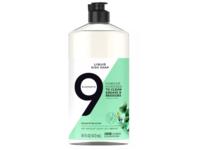 9 Elements Liquid Dish Soap, Eucalyptus Scent, 16 fl oz/473 mL - Image 2