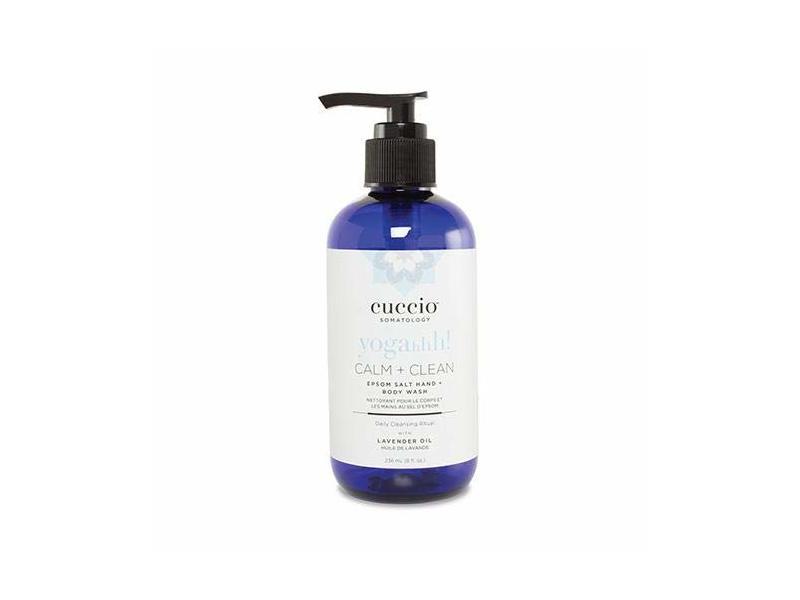 Cuccio Calm & Clean Epsom Salt Hand & Body Wash 8 Fl Oz