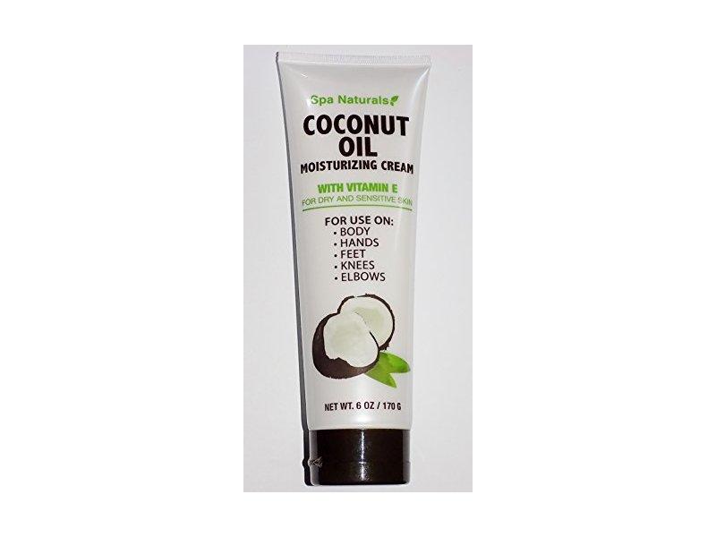 Spa Naturals Coconut Oil Moisturizing Cream With Vitamin E, 6oz