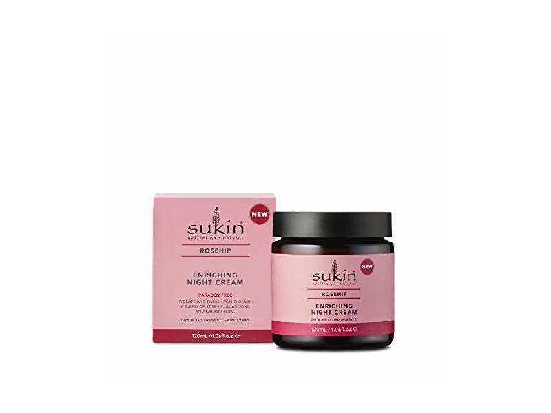 Sukin Rosehip Enriching Night Cream, 4.06 fl oz/120 mL