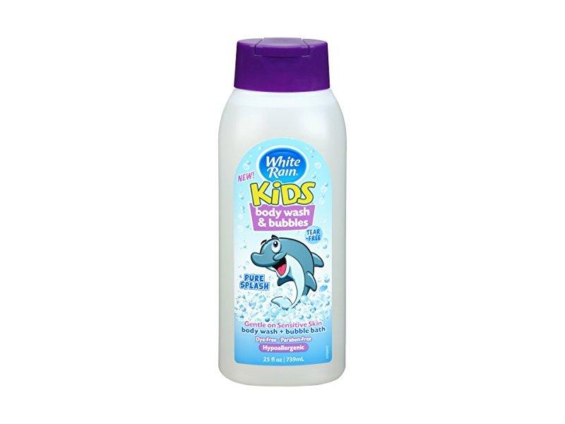 White Rain Kids Body Wash & Bubbles, Pure Splash, 25 fl oz