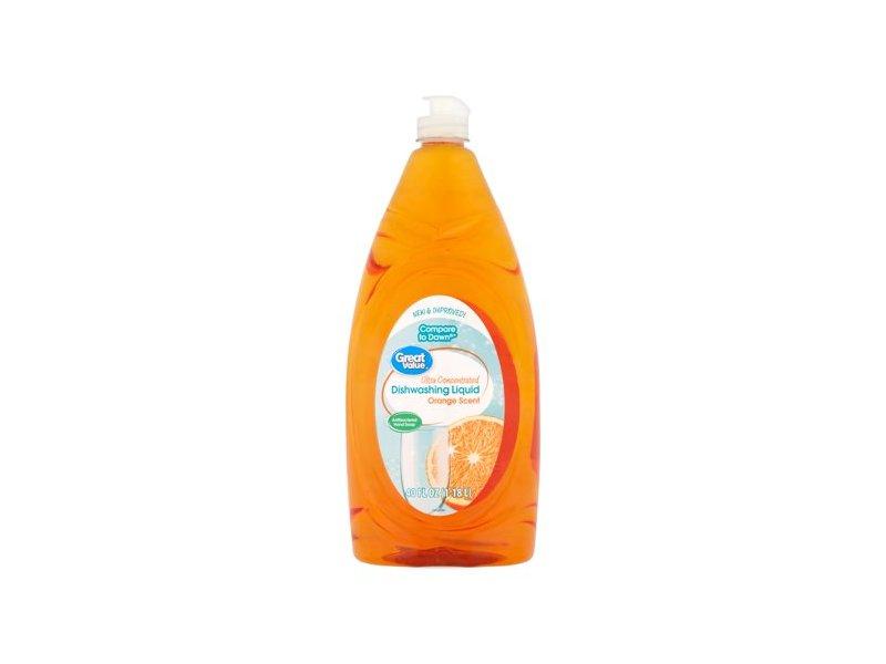Great value Ultra Dishwashing Liquid, Orange Scent, 24 fl oz